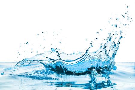 water splash met reflectie Stockfoto