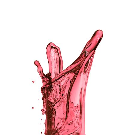 red wine splash, isolated on white background Standard-Bild