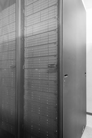 network server room with racks Stock Photo