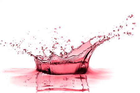 red wine splash isolated on white Stok Fotoğraf
