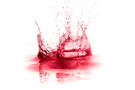 red wine splash isolated on white background Stok Fotoğraf