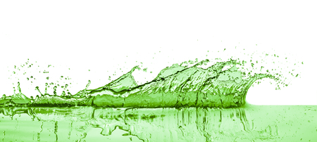 green liquid splash on white background Stok Fotoğraf