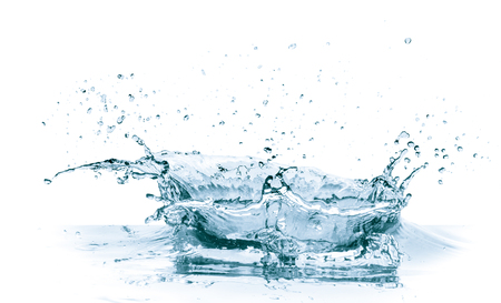 Spritzwasser isoliert auf weißem Hintergrund Standard-Bild