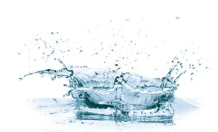 spruzzata dell'acqua isolata su fondo bianco Archivio Fotografico