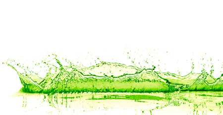 lime drink splash on white background