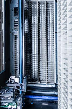 data storage tapes inside data cloud 免版税图像
