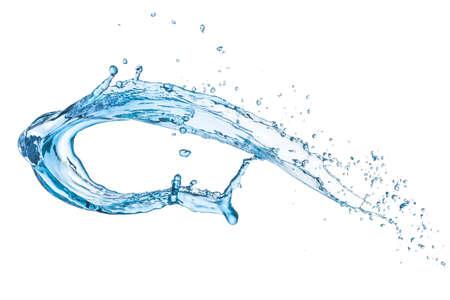 blue water splash isolated on white background Stok Fotoğraf