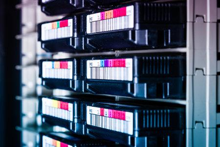 cluster of hard drives inside internet hosting center Stok Fotoğraf
