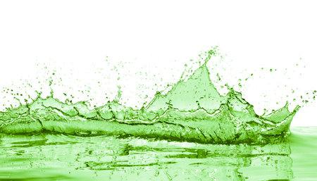 green liquid splash on white background Stok Fotoğraf