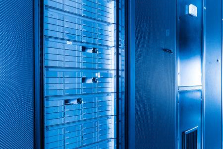 data storage with missing hard drives inside hosting center