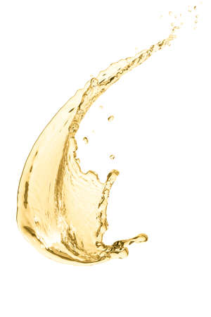 splash of white wine, isolated on white background
