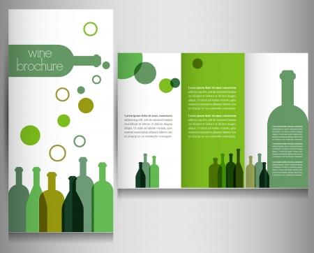 facture restaurant: Brochure Vin mod�le de conception Vecteur