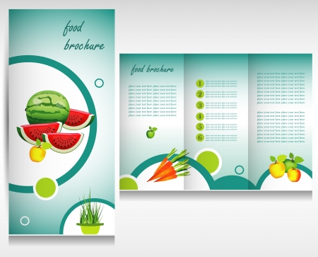 Food brochure design concept Vector