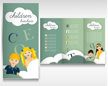 Children brochure design Vector