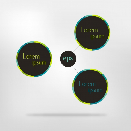 Connected circle speech diagram  colorful  infographic Vector