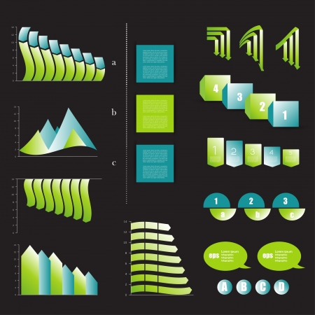 Presentation template for infographics. Web elements. Vector