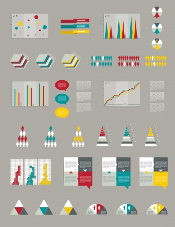 Presentation template for infographics  Web elements  Vector
