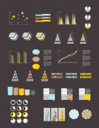 Presentation template for infographics  Web elements  Illustration
