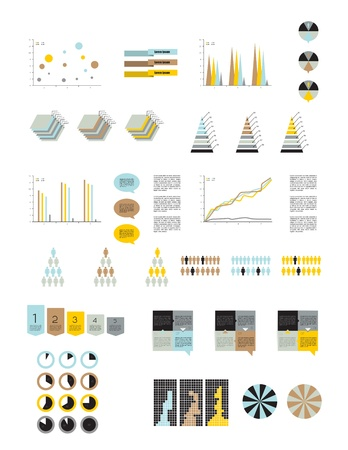 Presentation template for infographics  Web elements Stock Vector - 20193920