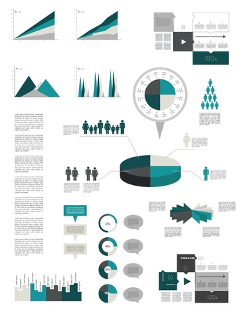 index card: Infographics elements