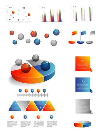 graficas de pastel: Plantilla de presentaci?ara la infograf?con tabla de elementos Web diagramas circulares