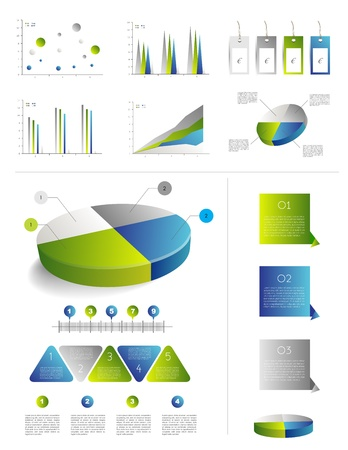 Presentation template for infographics with pie chart diagram  Web elements  Stock Vector - 20193911