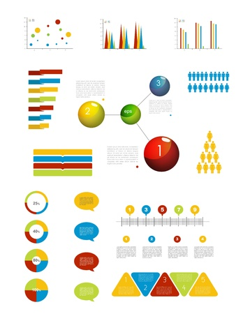 Presentation template for infographics with pie chart diagram  Web elements
