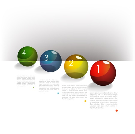 module: Colorful speech bubbles diagram with text fields. Infographic. Illustration