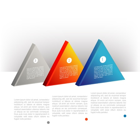 Presentation template triangle graph. Pie chart diagram. Infographics web elements. Vector