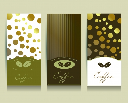 Coffee menu card.  Vector