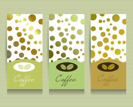 Coffee menu card.  Illustration