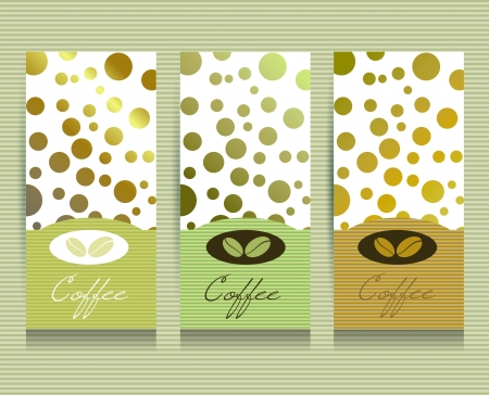 coffee beans: Tarjeta del men� del Caf�.