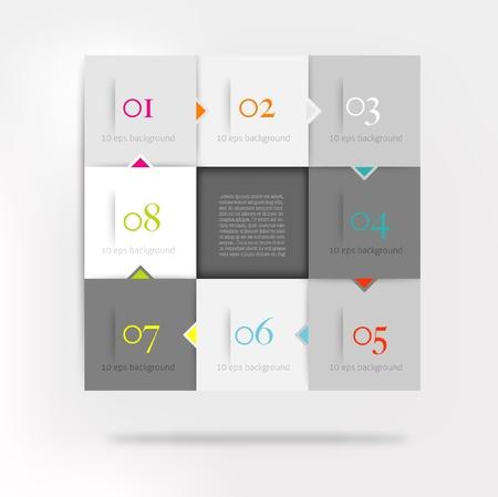 module: Infographic speech cubes diagram Illustration