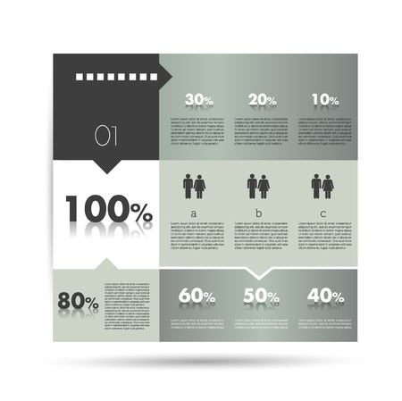 module: Box diagram, template  Infographics module scheme  Illustration