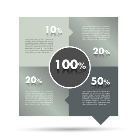 Box diagram, template  Infographics module scheme  Illustration