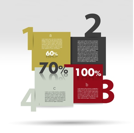 Sale diagram for infographics  Vector