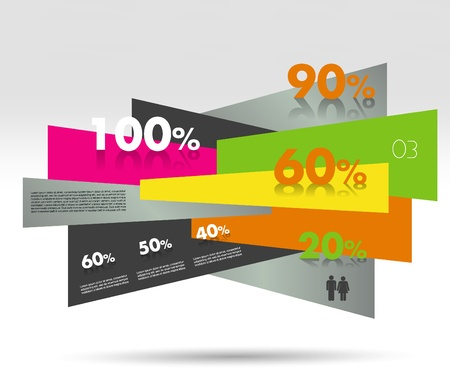 module: Modern box diagram for infographics  Vector module chart