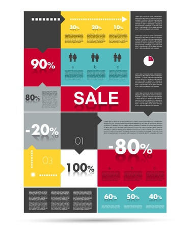 Diagram for infographics  Example of speech chart  Web banner template