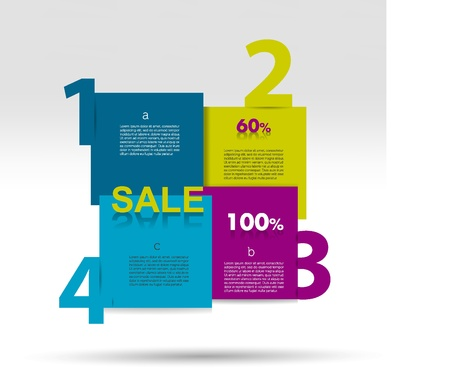 Diagram for infographics  Example of speech chart  Web banner template  Vector