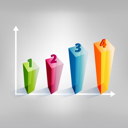 Example of cube chart  Infographics element  Vector