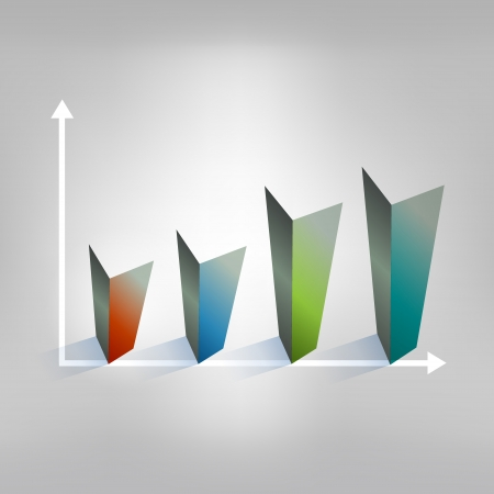 Example of cube chart  Infographics element  Illustration