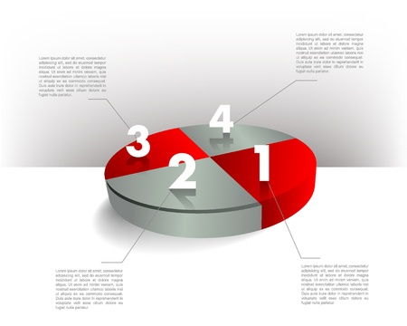 Presentation template circle graph  Pie chart diagram  Infographics web elements  Vector