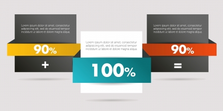Rectangle infographics  Web banner template  Vector background  Illustration