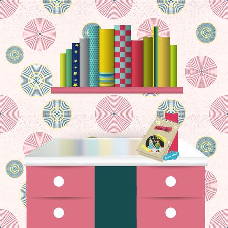 colofrul: Children interior  Vector illustration  Colofrul background