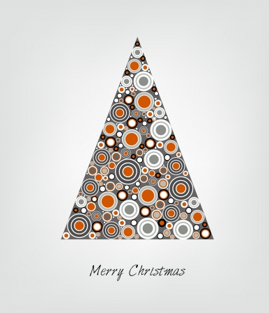 Christmas card  Stylized Christmas tree  Circle patern  Vector backgroun Illustration Stock Vector - 23241847