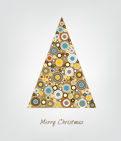 Christmas card  Stylized Christmas tree  Circle patern  Vector backgroun Illustration Stock Vector - 23241854
