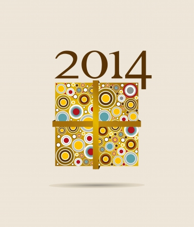 Happy new year 2014 greeting card design   Vector