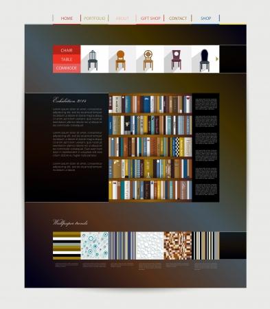 Web page layout  Furniture company   Illustration