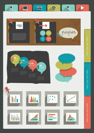 Sample print or web page  Infographics   Vector