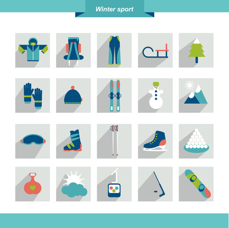 Winter sport flat icon shape  Vector illustration Stock Vector - 25362688